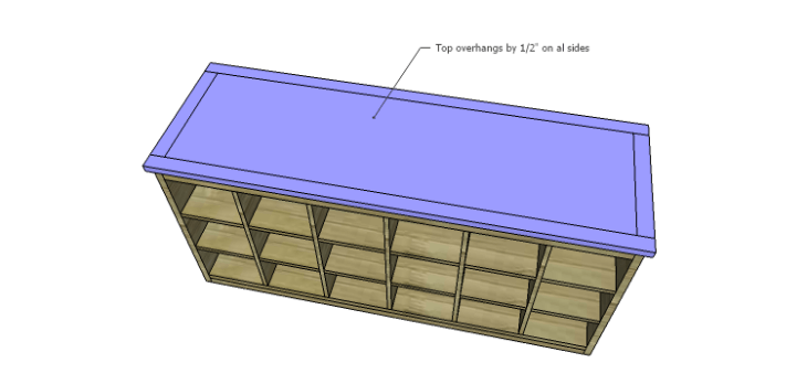 DIY Plans to Build a Maxwell Shoe Storage Bench_Top 2