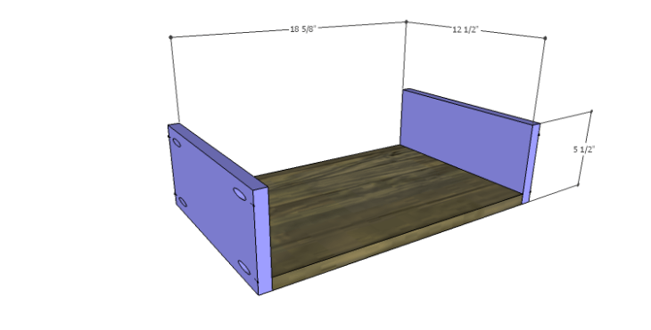 DIY Plans to Build a River Crest Media Chest_Small Drawer BS