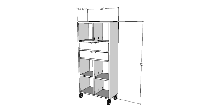 DIY Plans to Build a Rolling Storage Cubby