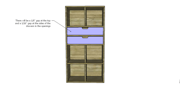 DIY Plans to Build a Rolling Storage Cubby_Drawers