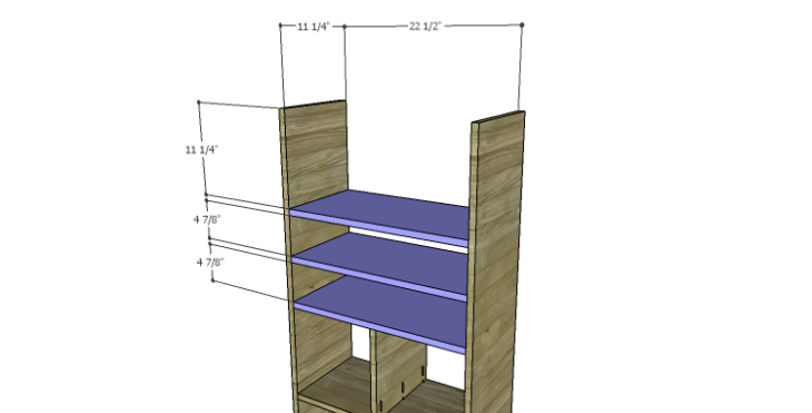 DIY Plans to Build a Rolling Storage Cubby_Shelves 2