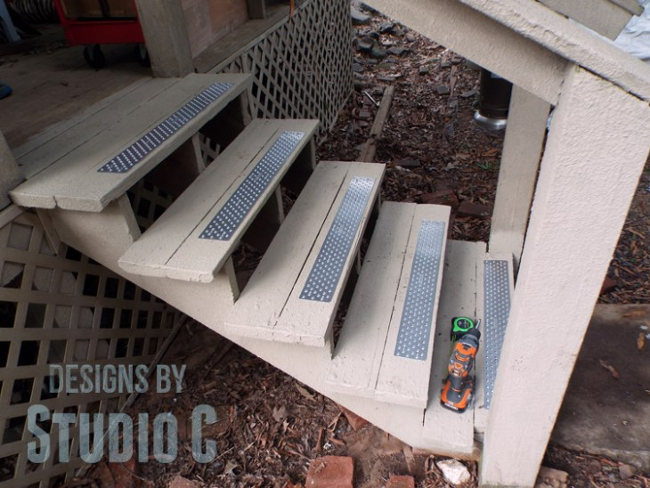 Installing Handi-Treads on Exterior Stairs side view