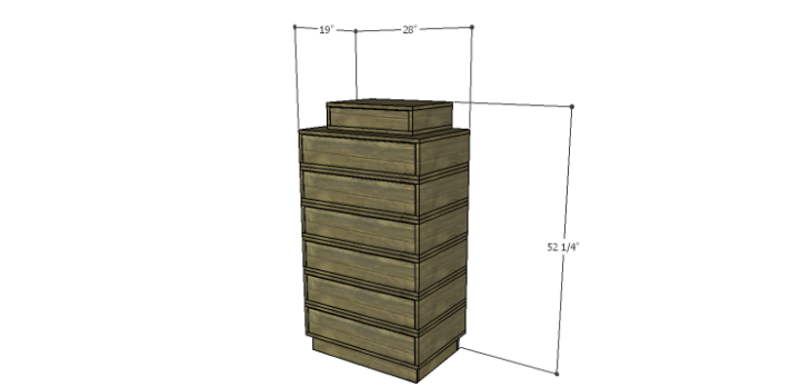 DIY Plans to Build the Ava Chest of Drawers