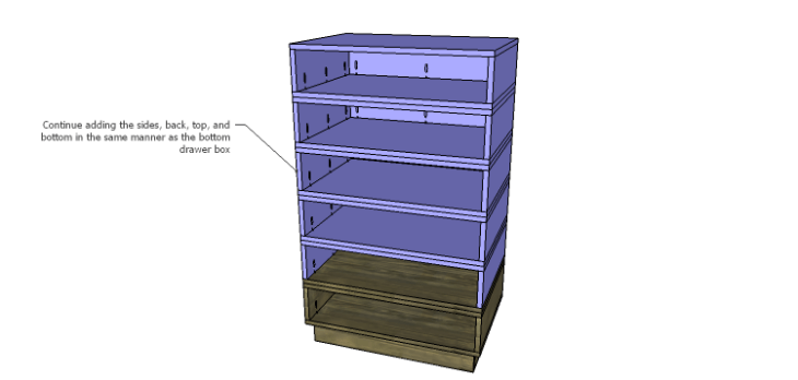 DIY Plans to Build the Ava Chest of Drawers_Drawer Box Layers