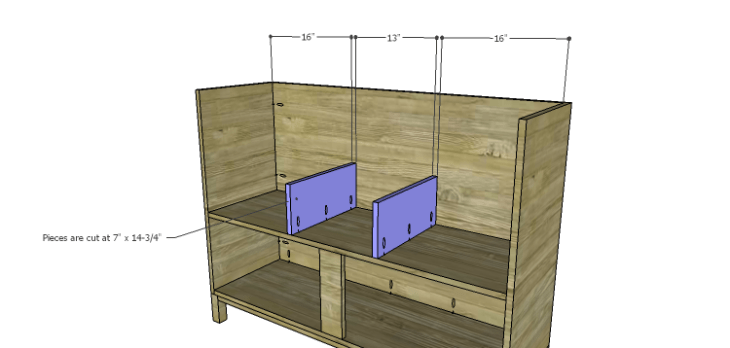 DIY Plans to Build a Mismatched Dresser_Middle Dividers
