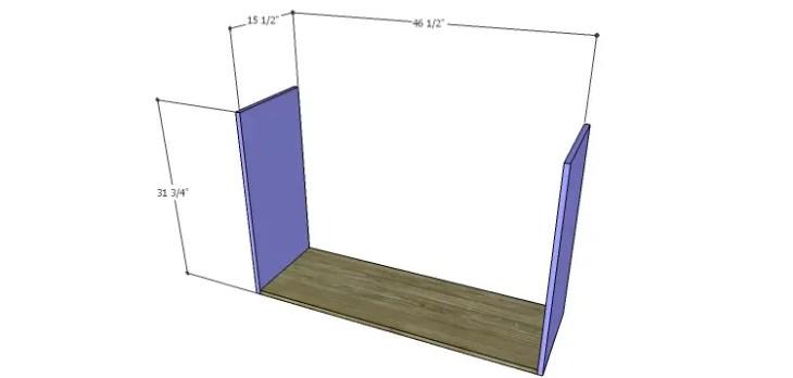 DIY Plans to Build a Mismatched Dresser_Sides & Bottom