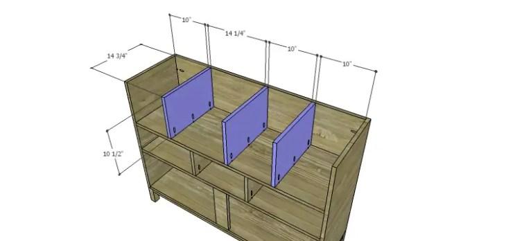 DIY Plans to Build a Mismatched Dresser_Upper Dividers