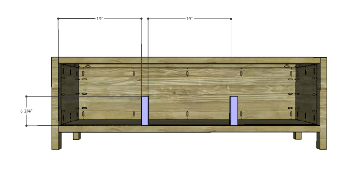 DIY Plans to Build a Jamie Media Console_Drawer Dividers