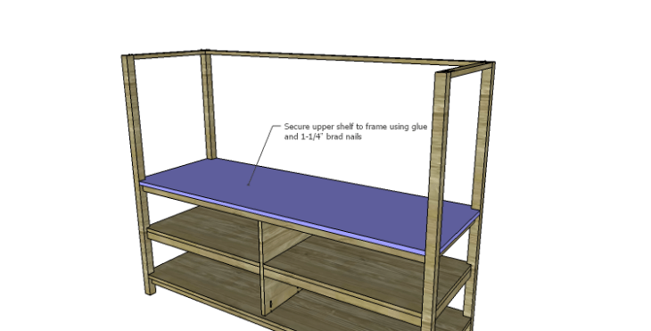 DIY Plans to Build a Forester Sideboard_Upper Shelf