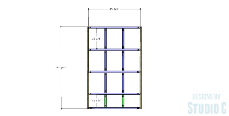 DIY Plans to Build a Reclaimed Bookcase Divider_Frame 1