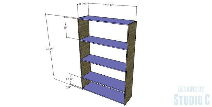 DIY Plans to Build a Reclaimed Bookcase Divider_Sides & Shelves