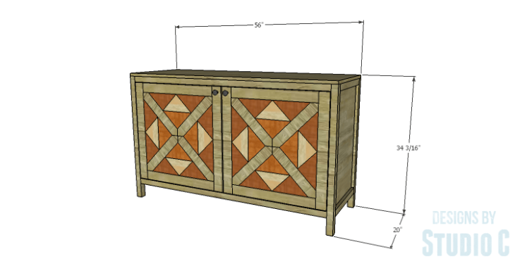DIY Plans to Build a Mosaic Cabinet