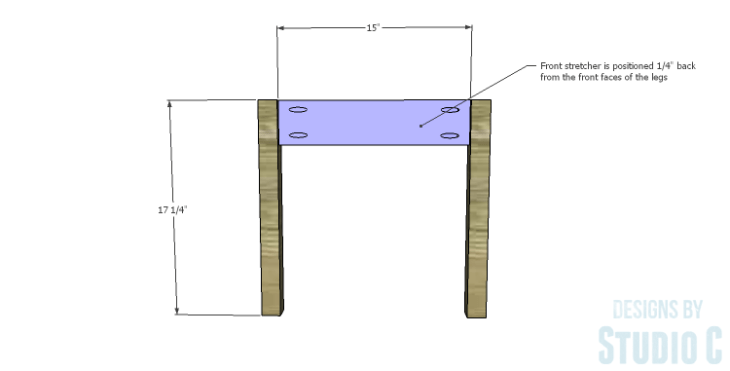 DIY Plans to Build a Weatherford Dining Chair_Front Frame