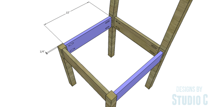 DIY Plans to Build a Weatherford Dining Chair_Side Stretchers