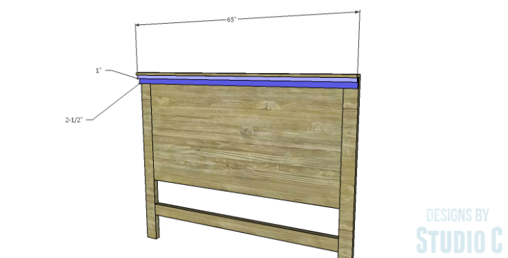DIY Plans to Build a Monica Headboard_Header Trim