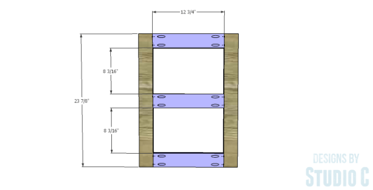 DIY Plans to Build a Connor Media Console_Door Frame