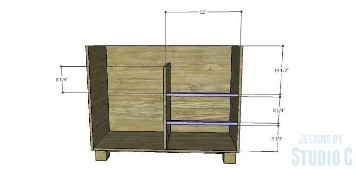 DIY Plans to Build a Brenley Media Console_Drawer Stretchers
