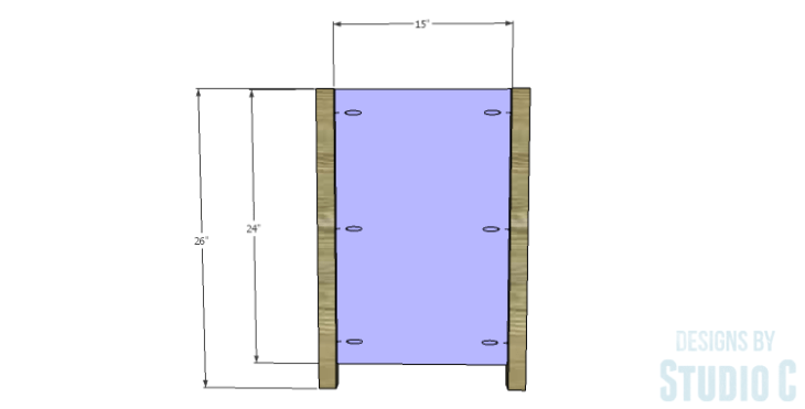 DIY Plans to Build a Connor Media Console_Inner Sides