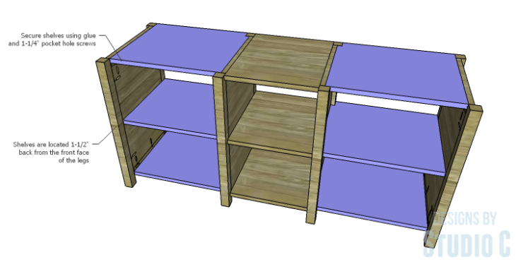 DIY Plans to Build a Connor Media Console_Shelves 2