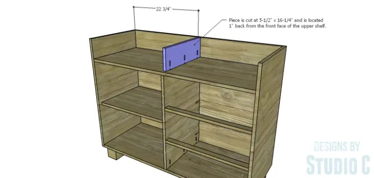 DIY Plans to Build a Brenley Media Console_Upper Divider