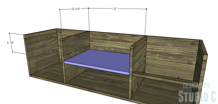 DIY Plans to Build an Ironton Media Console_Center Shelf