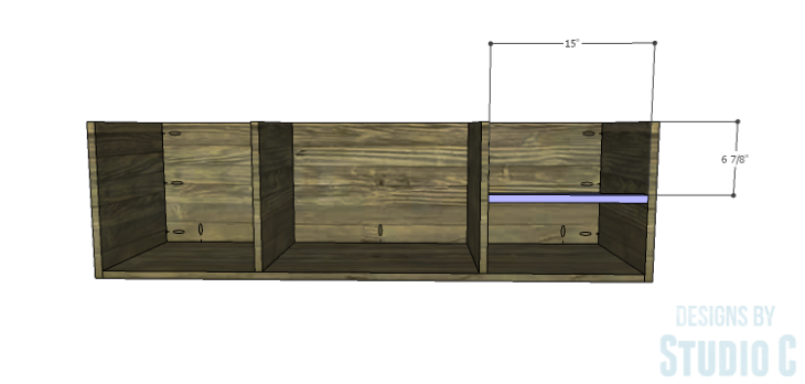 DIY Plans to Build an Ironton Media Console_Drawer Divider