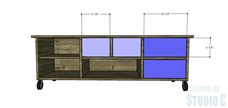 DIY Plans to Build an Ironton Media Console_Drawer Fronts