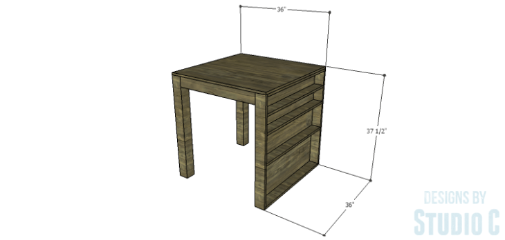 DIY Plans to Build a Storage Counter Height Table