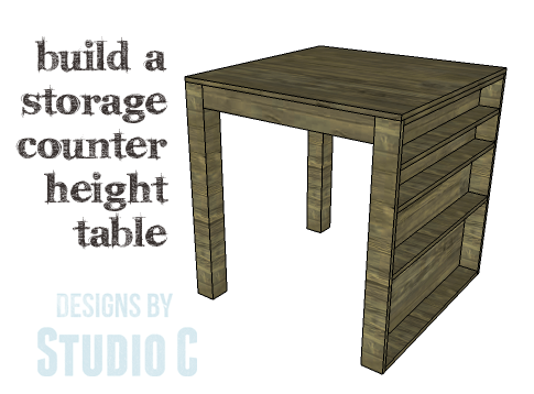 DIY Plans to Build a Storage Counter Height Table_Copy