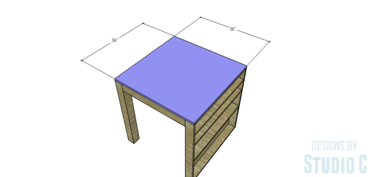 DIY Plans to Build a Storage Counter Height Table_Top