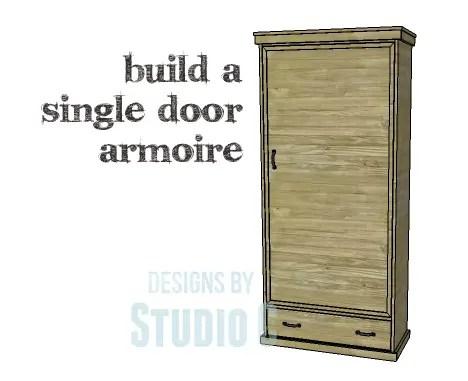 DIY Plans To Build A Single Door Armoire_Copy