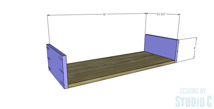 DIY Plans to Build a Single Door Armoire_Drawer BS