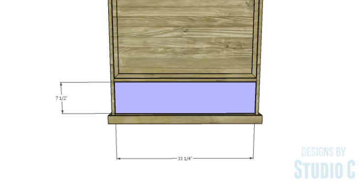 DIY Plans to Build a Single Door Armoire_Drawer Front