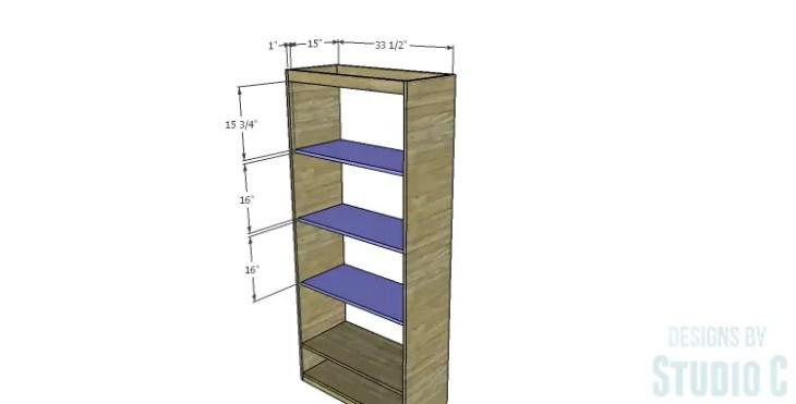 DIY Plans to Build a Single Door Armoire_Upper Shelves