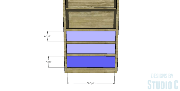 DIY Plans to Build a Bombay Bookcase_Drawer Fronts