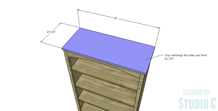 DIY Plans to Build a Bombay Bookcase_Top