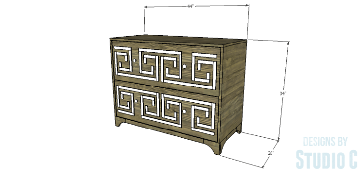DIY Plans to Build a Greek Key Chest