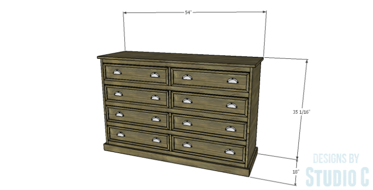DIY Plans to Build a Providence Dresser_Dims