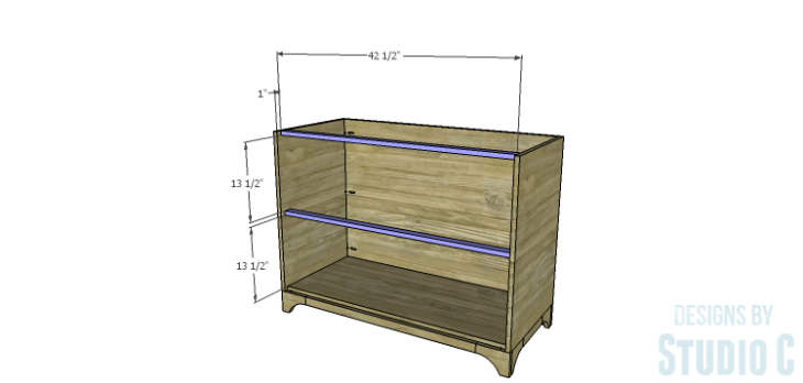 DIY Plans to Build a Greek Key Chest_Front Stretchers