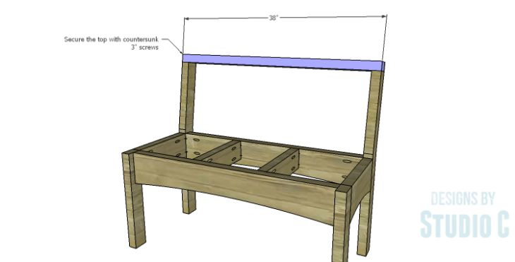 DIY Plans to Build a Taboreh Bench_Back Top