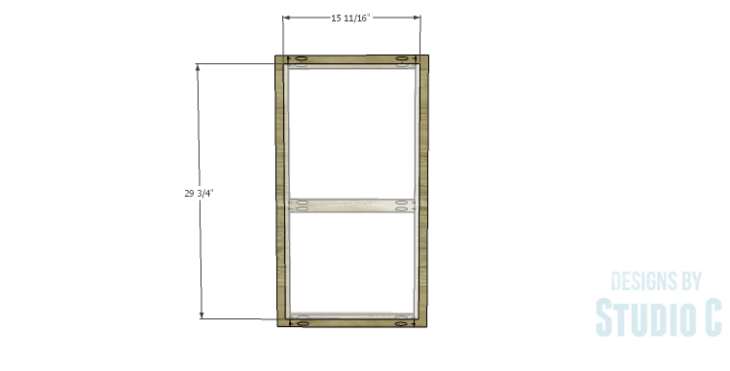 DIY Plans to Build a Frances Buffet_Door Panel