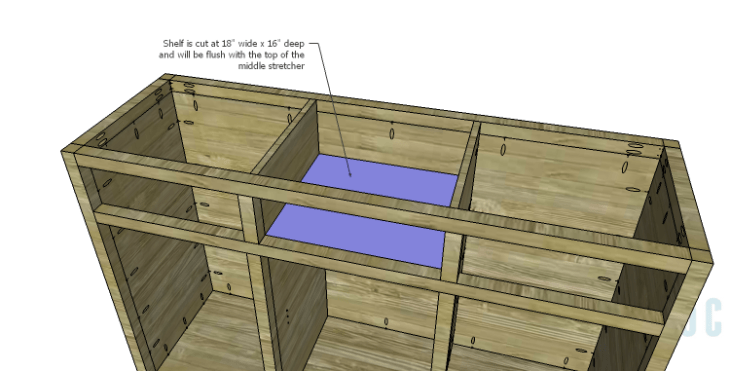 DIY Plans to Build a Doyle Cabinet_Center Drawer Shelf