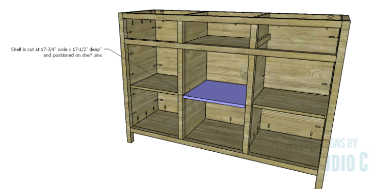 DIY Plans to Build a Doyle Cabinet_Center Shelf