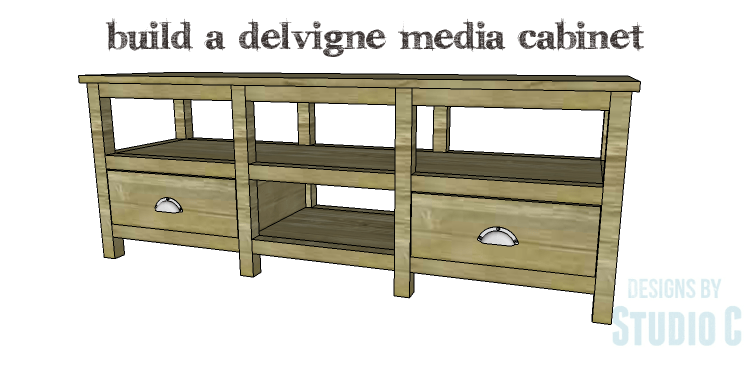 Built in media cabinet plans