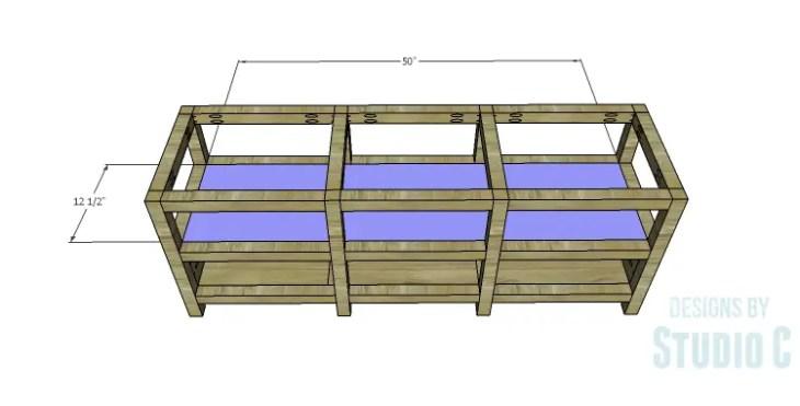 DIY Plans to Build a Delvigne Media Cabinet_Middle Shelf