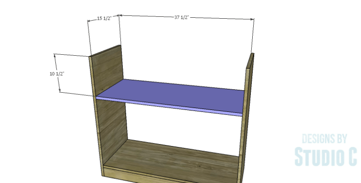 DIY Plans to Build a Savoy Cabinet_Upper Shelf