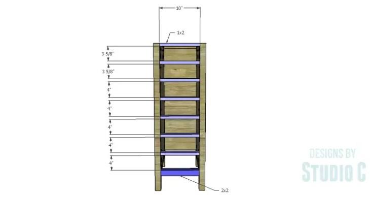 DIY Plans to Build a Jeweler's Desk_Narrow Drawer Stretchers