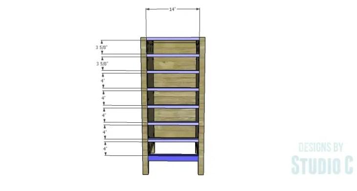 DIY Plans to Build a Jeweler's Desk_Wider Drawer Stretchers