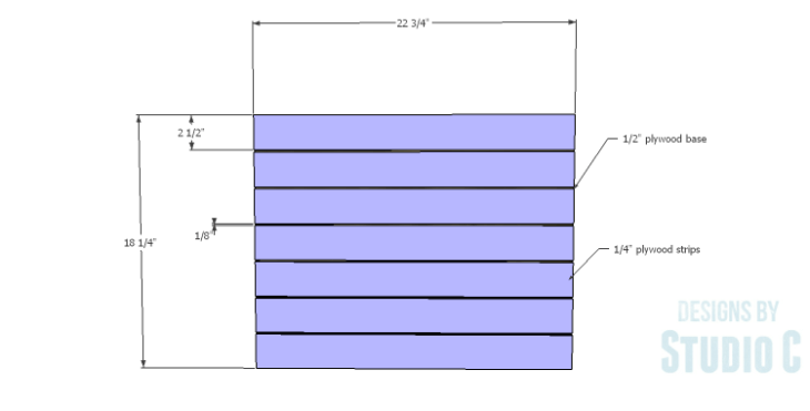 DIY Plans to Build a Carney Media Stand_Door Slats