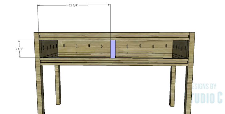 DIY Plans to Build a Holly Console Table_Center Divider